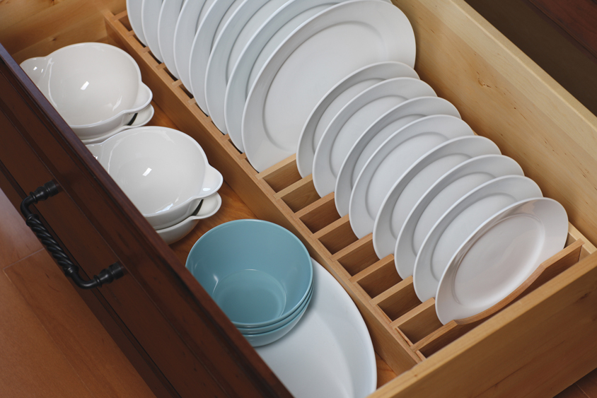 Our drawer plate rack is a convenient location and a unique way to store an entire set of dishware. & Cardinal Kitchens \u0026 Baths | Storage Solutions 101: Plateware