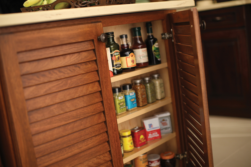 The End Of An Island Is A Great Place To Tuck A Spice Rack In A Shallow  Kitchen Cabinet For Spices.