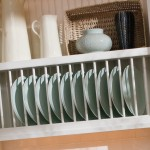 A decorative plate rack cabinet in the kitchen can be a wonder way to display your beautiful dishware.
