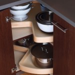 Our giant turntable shelves swivel inside the cabinet and utilize valuable storage space.