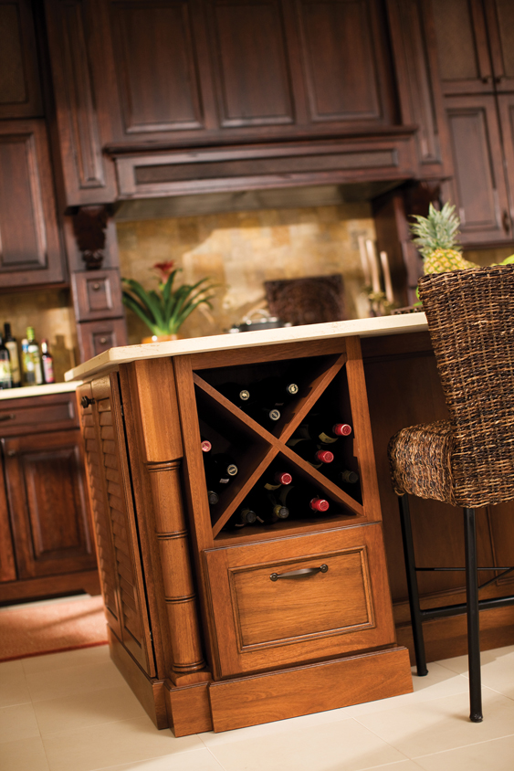 Cardinal kitchens baths storage solutions 101 for Wine rack built in