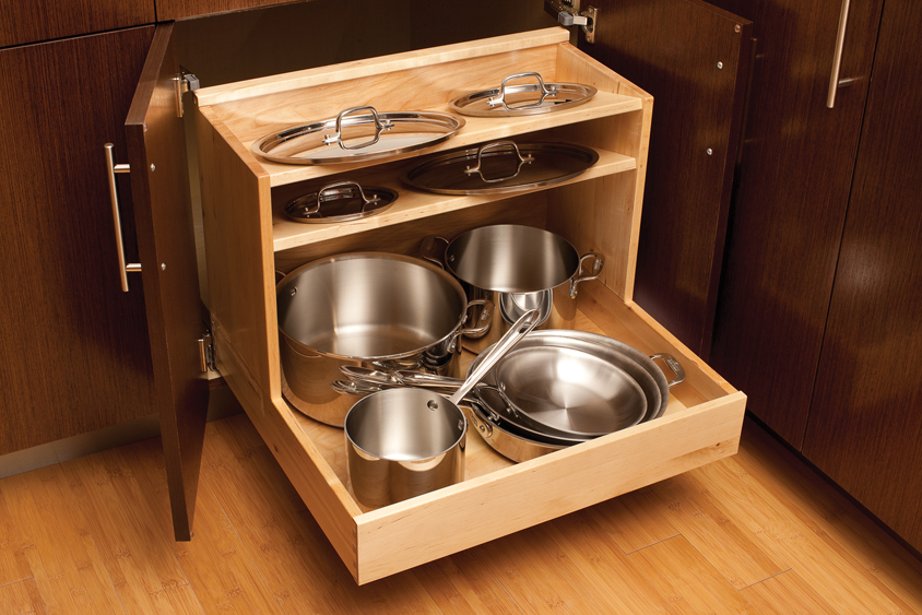 kitchen storage solutions for pots and pans cardinal kitchens amp baths storage solutions 101 pots 9837
