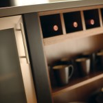 Vertical or horizontal wine rack cabinets offer attractive storage and display of your favorite wines.