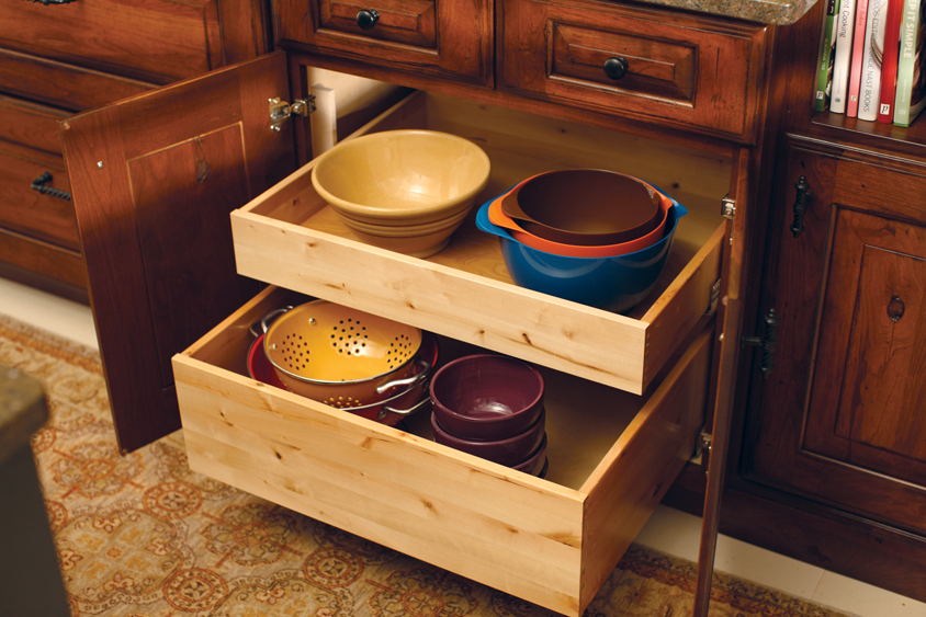kitchen cabinet pull out drawers cardinal kitchens amp baths storage solutions 101 roll 19344