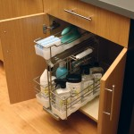 Organize cleaning supplies in our convenient pull-out caddy with a detachable, portable basket that you can keep under the sink.