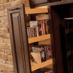 Pull-outs offer convenient storage for DVDs and CD's.