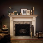 "Mantel ""A"" shown in Antique White paint on Maple."