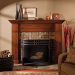 "Mantel ""B"" shown in Quarter Sawn Red Oak with Mission/Charcoal Glaze finish."